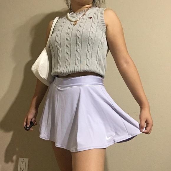 Nike Dresses & Skirts - Nike Flounce Pleated Tennis Skirt Lavender/Lilac